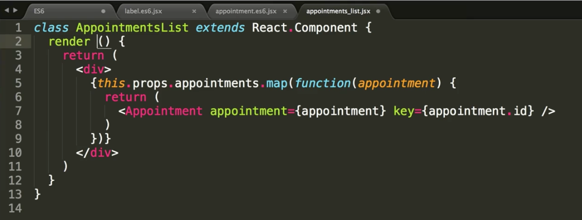 ES6 classes in React | Learnetto