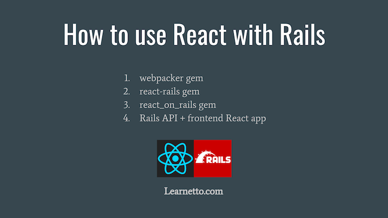 React with Ruby on Rails